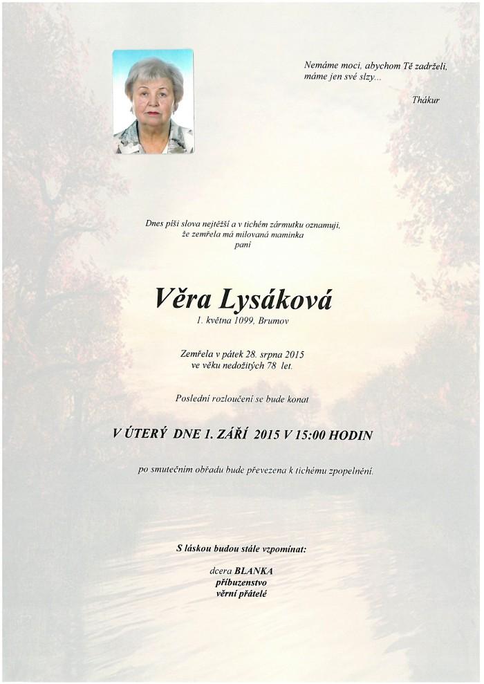 Věra Lysáková