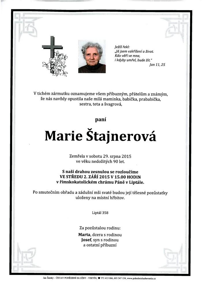 Marie Štajnerová