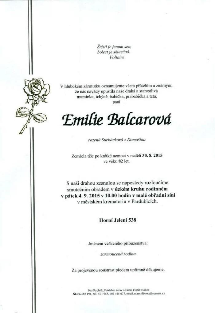 Emilie Balcarová