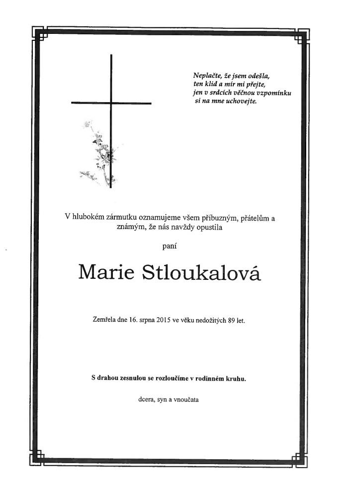 Marie Stloukalová