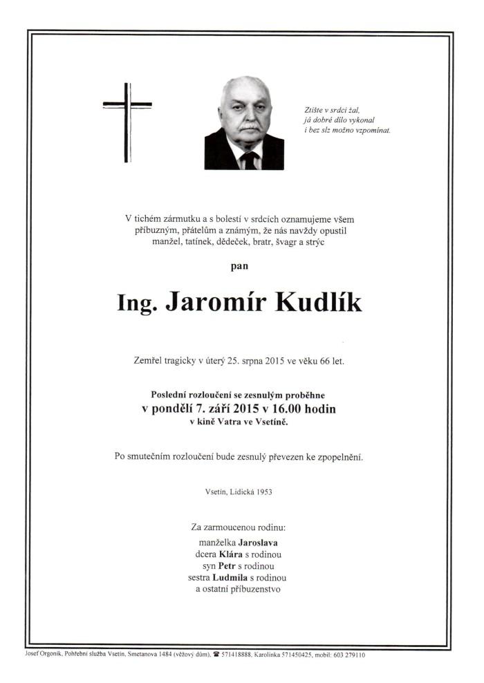 Ing. Jaromír Kudlík