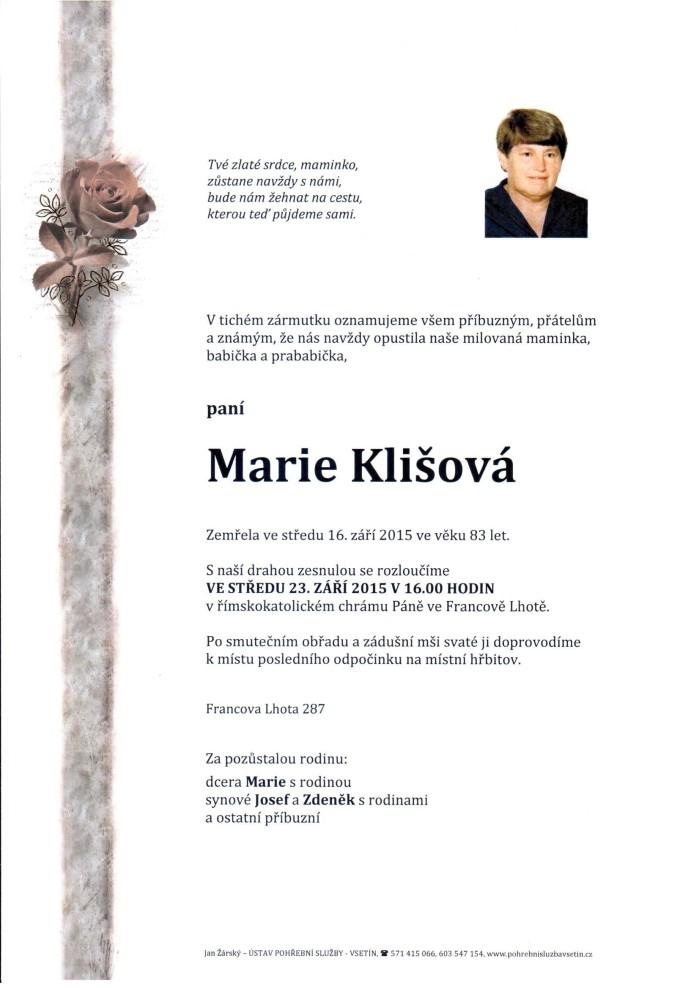 Marie Klišová