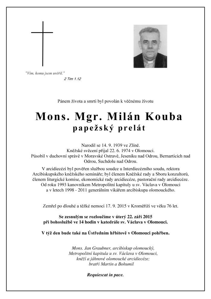 Mons. Mgr. Milán Kouba