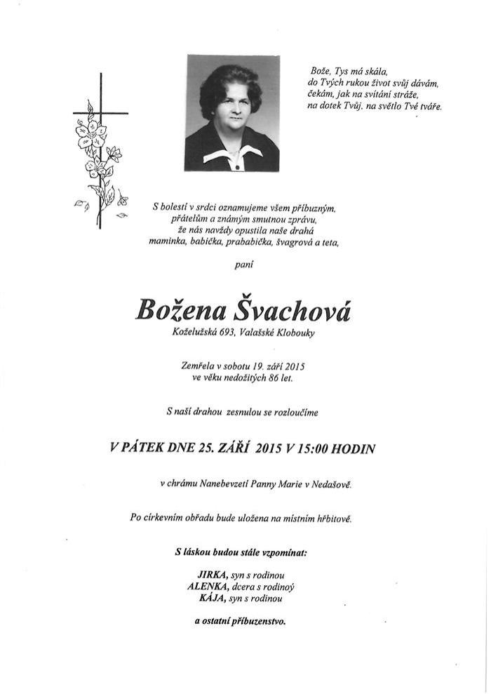 Božena Švachová