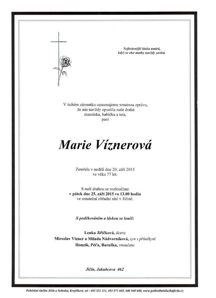 Marie Víznerová
