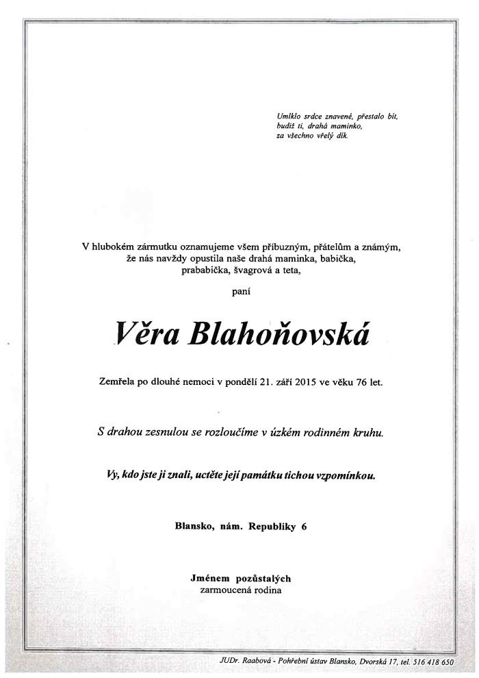 Věra Blahoňovská