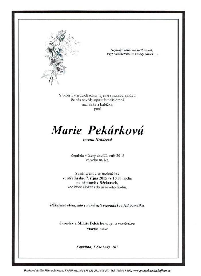 Marie Pekárková