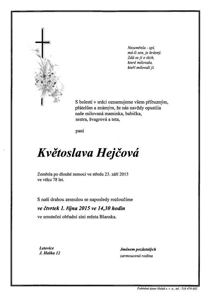 Květoslava Hejčová