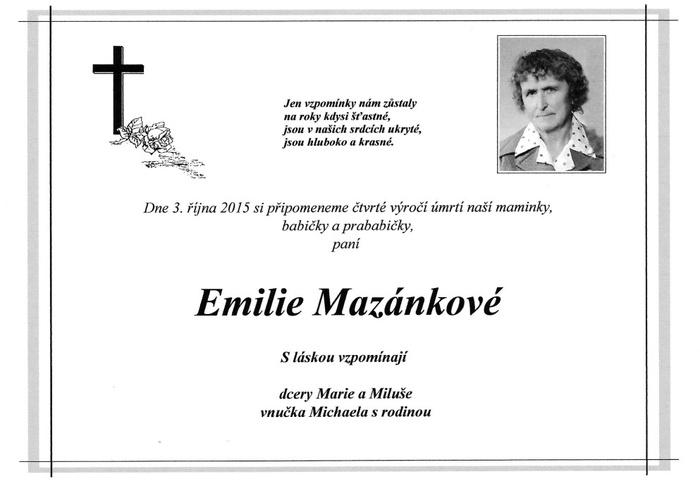 Emilie Mazánková