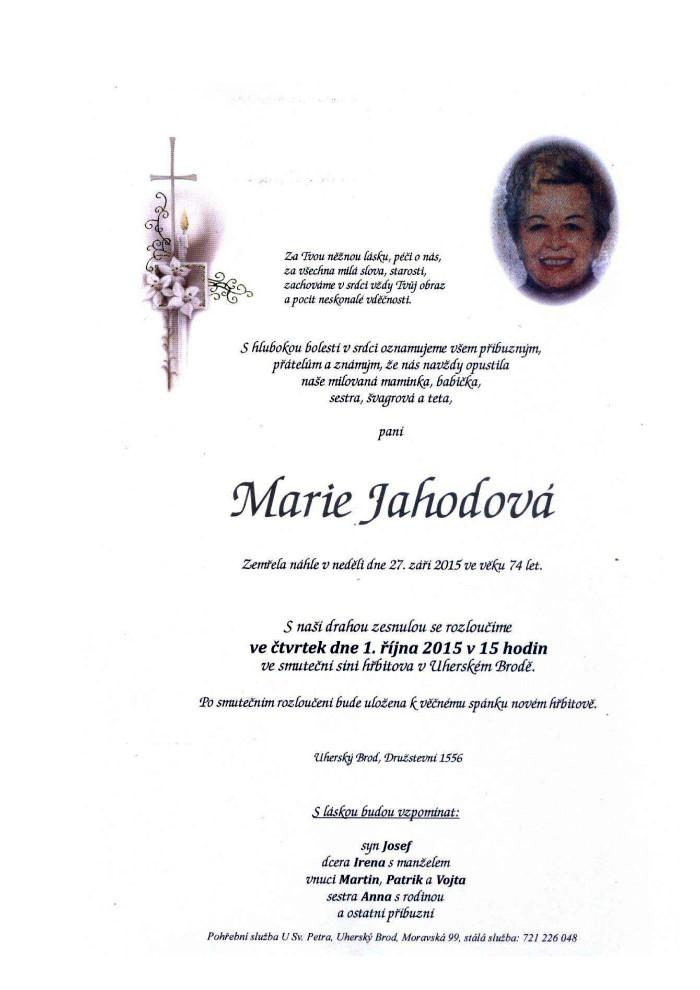 Marie Jahodová