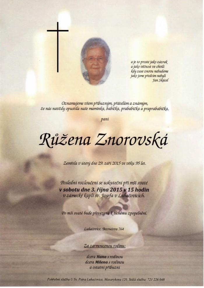 Růžena Znorovská