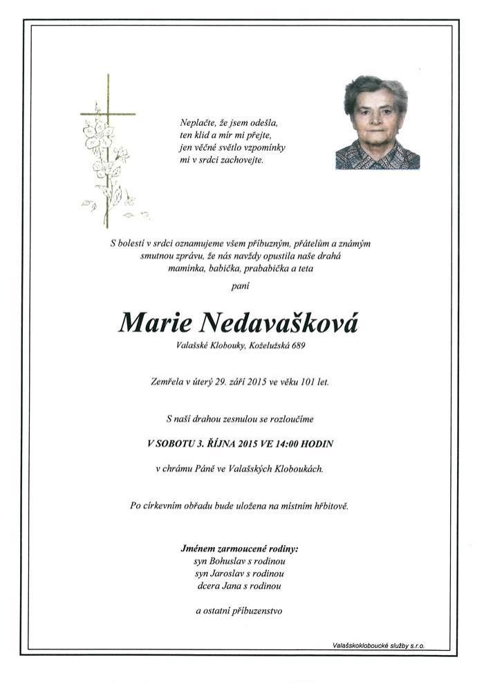 Marie Nedavašková