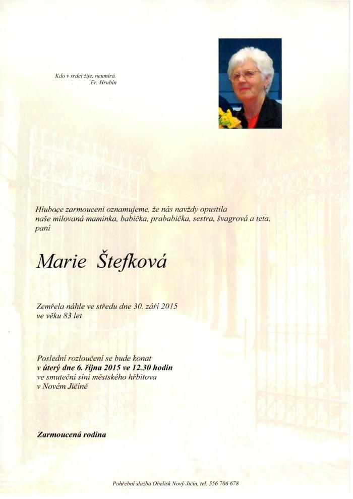 Marie Štefková