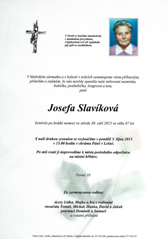 Josefa Slavíková