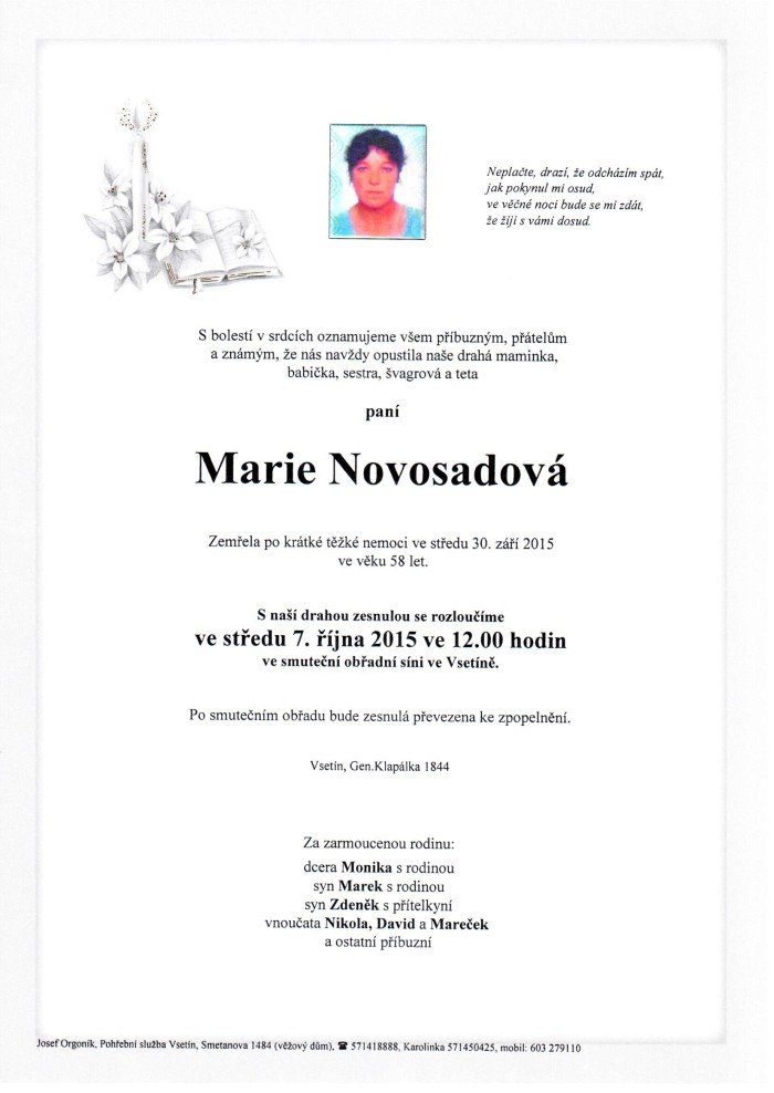 Marie Novosadová