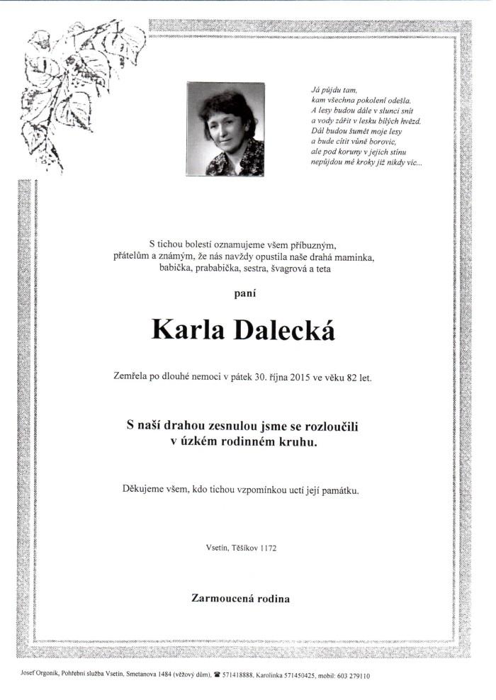 Karla Dalecká