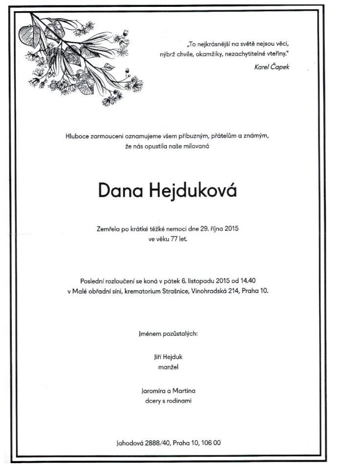 Dana Hejduková