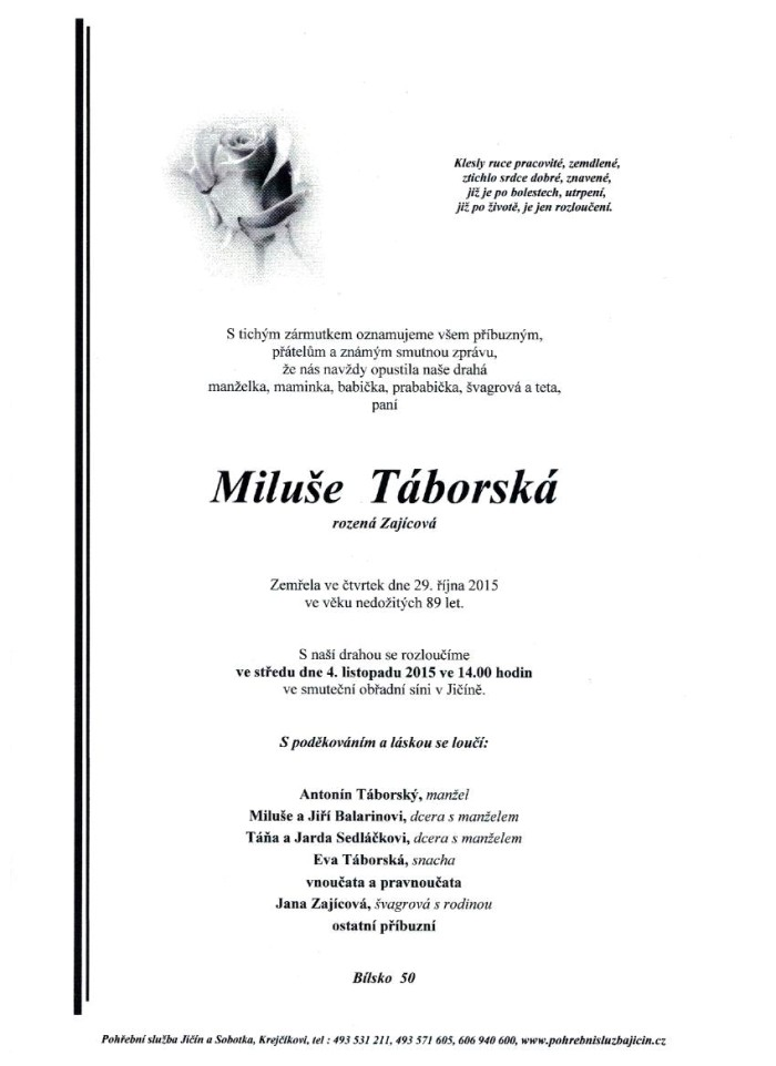 Miluše Táborská
