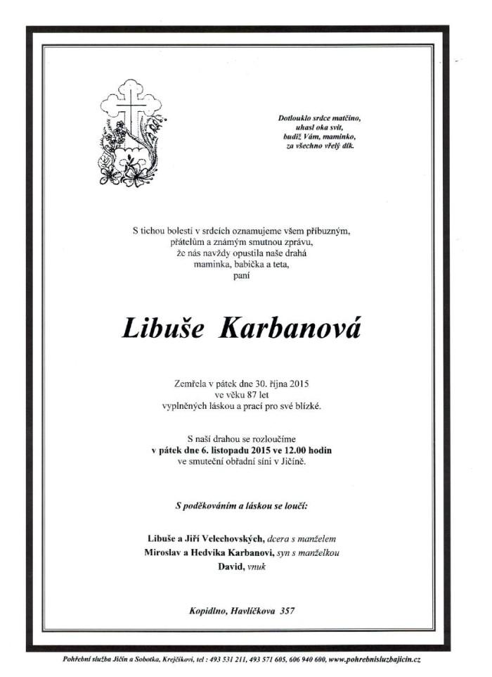 Libuše Karbanová