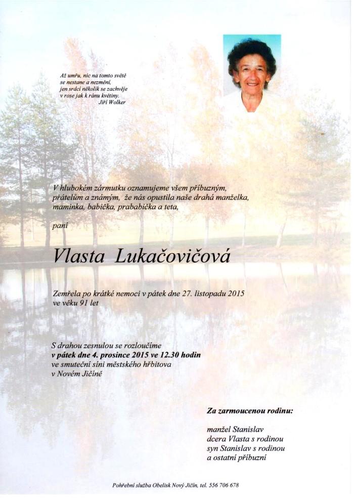 Vlasta Lukačovičová