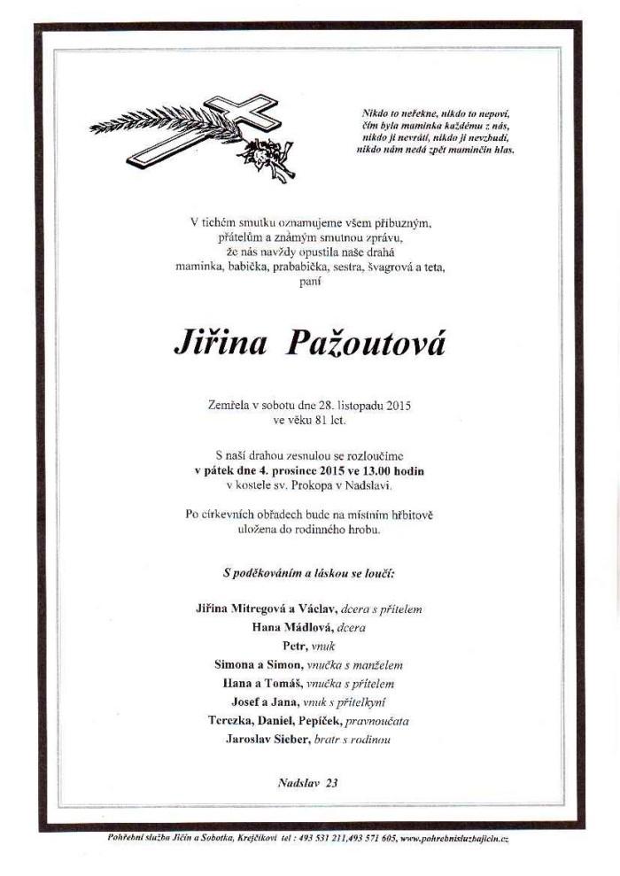 Jiřina Pažoutová