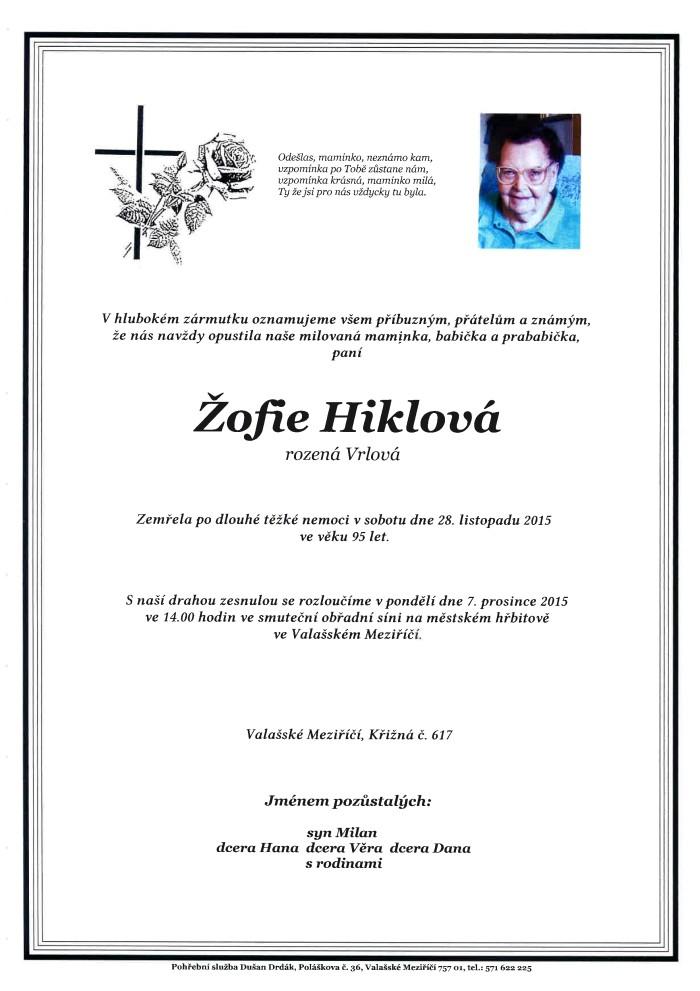 Žofie Hiklová