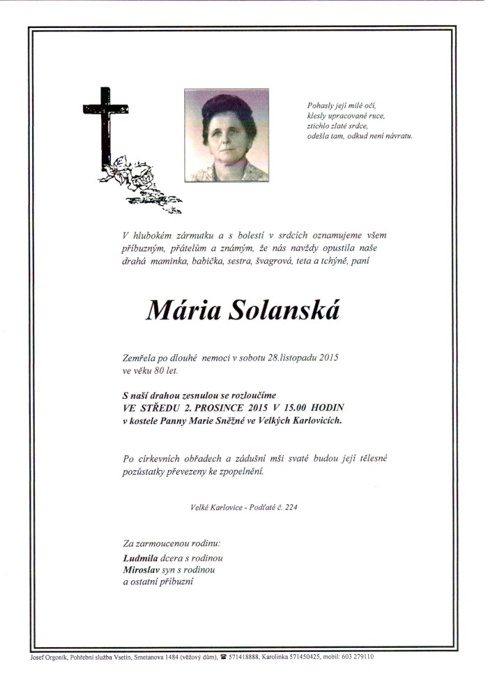 Mária Solanská