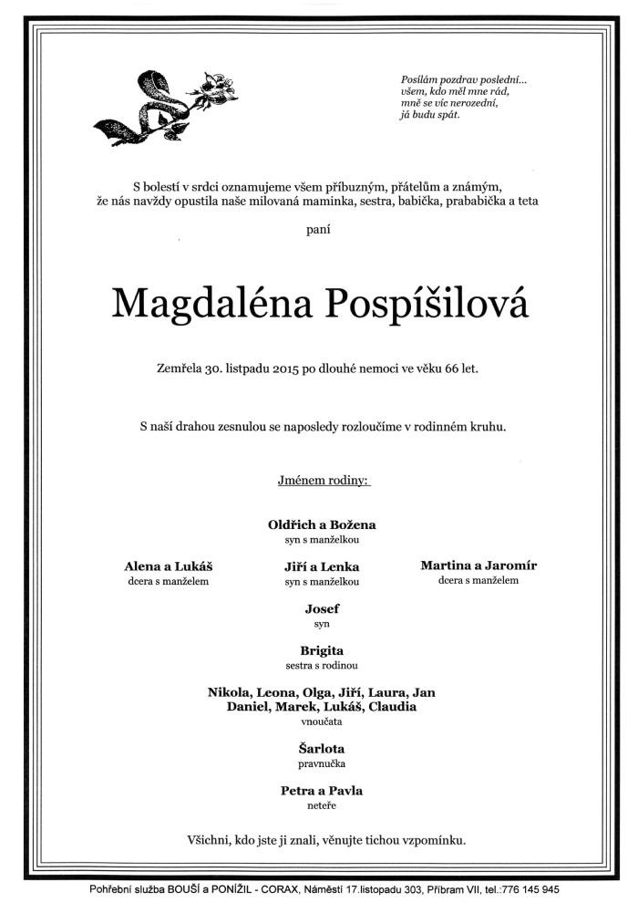 Magdaléna Pospíšilová