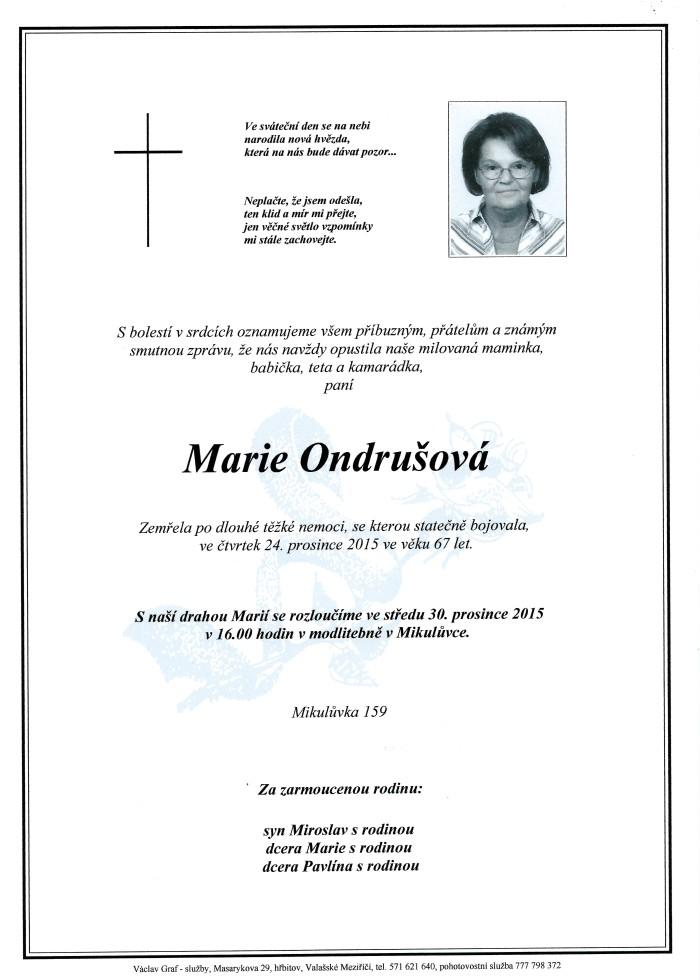 Marie Ondrušová