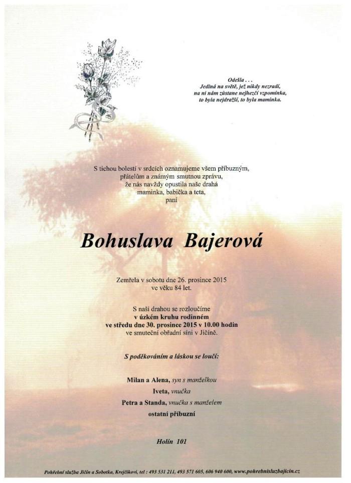 Bohuslava Bajerová