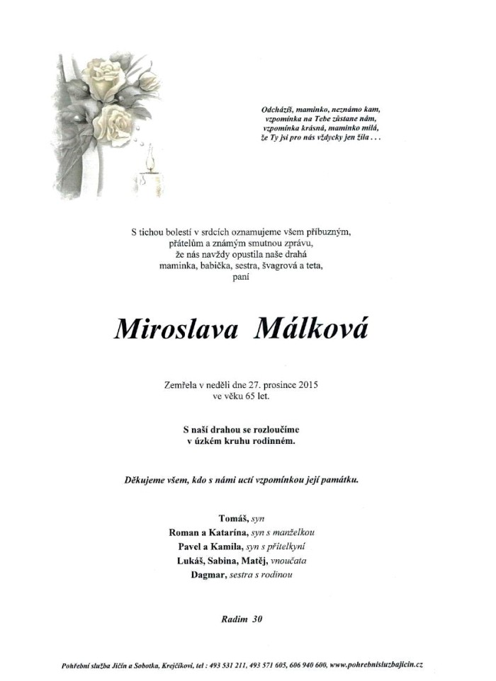 Miroslava Málková
