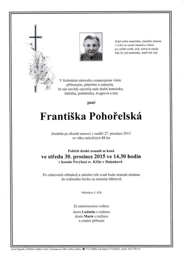 Františka Pohořelská