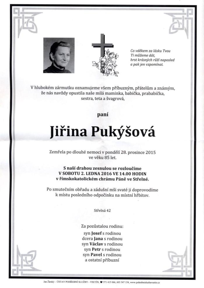 Jiřina Pukýšová