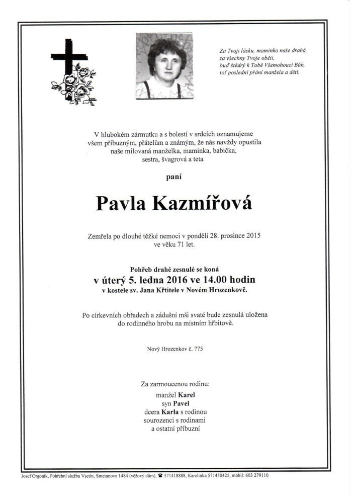 Pavla Kazmířová