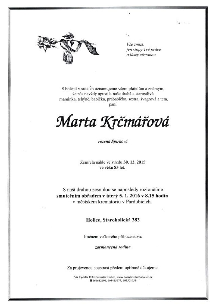 Marta Krčmářová