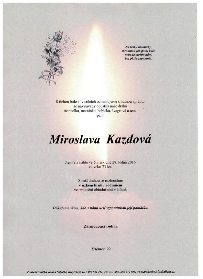 Miroslava Kazdová
