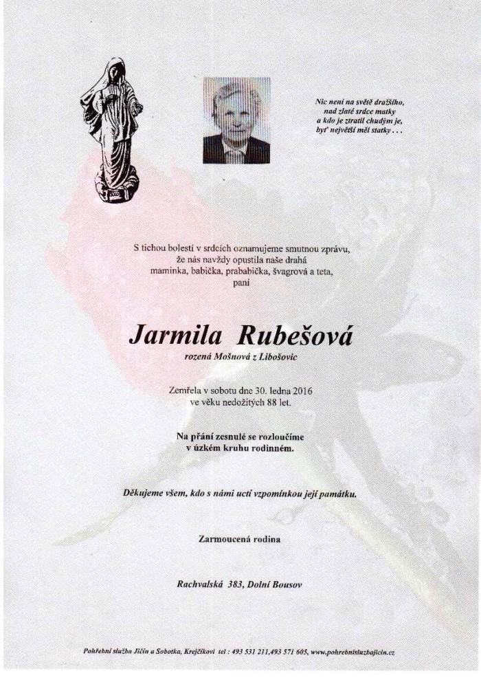 Jarmila Rubešová