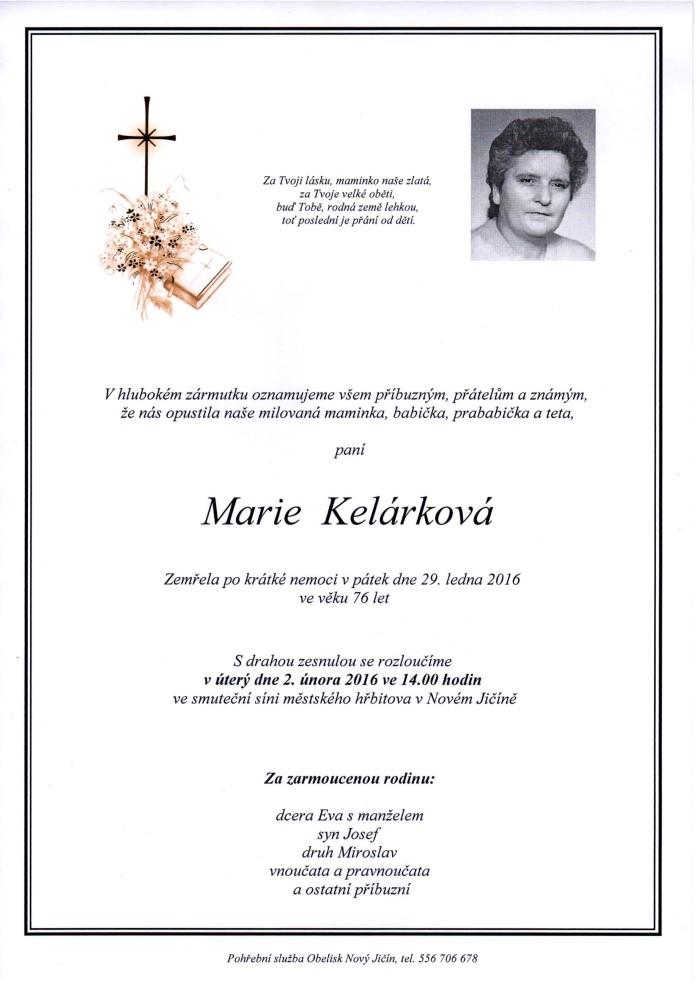 Marie Kelárková