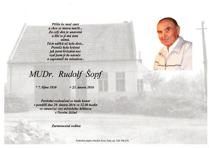 MUDr. Rudolf Šopf