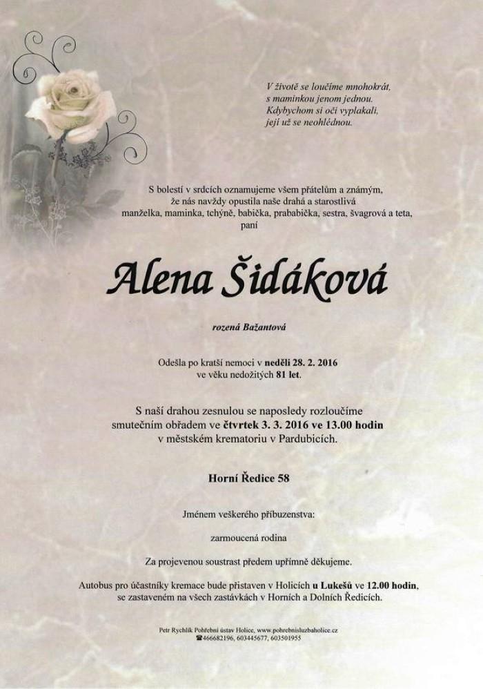 Alena Šidáková