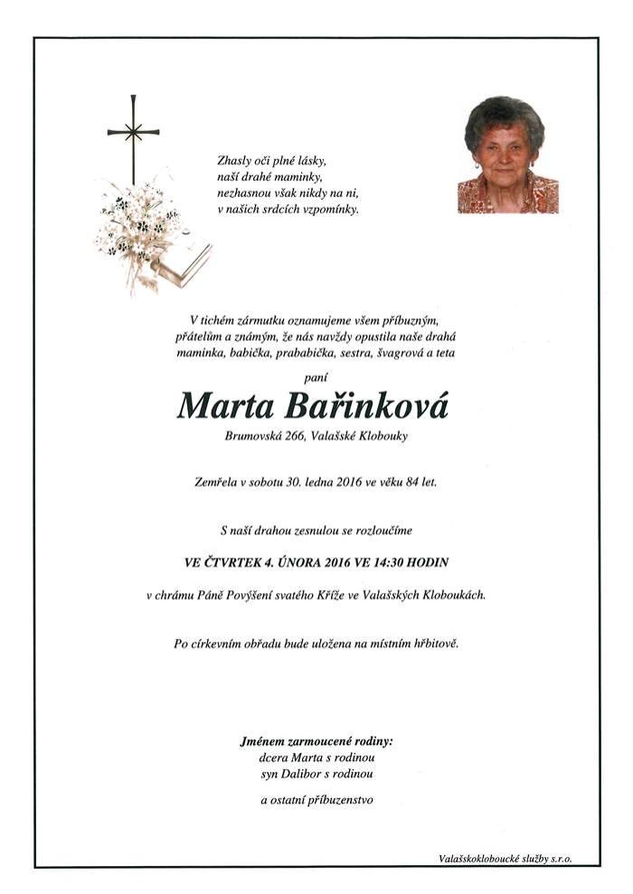 Marta Bařinková
