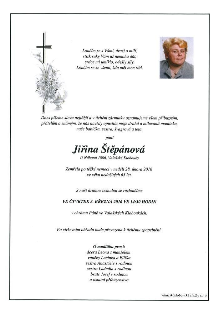 Jiřina Štěpánová