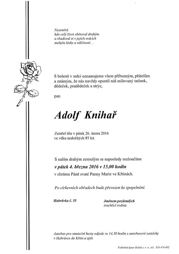 Adolf Knihař