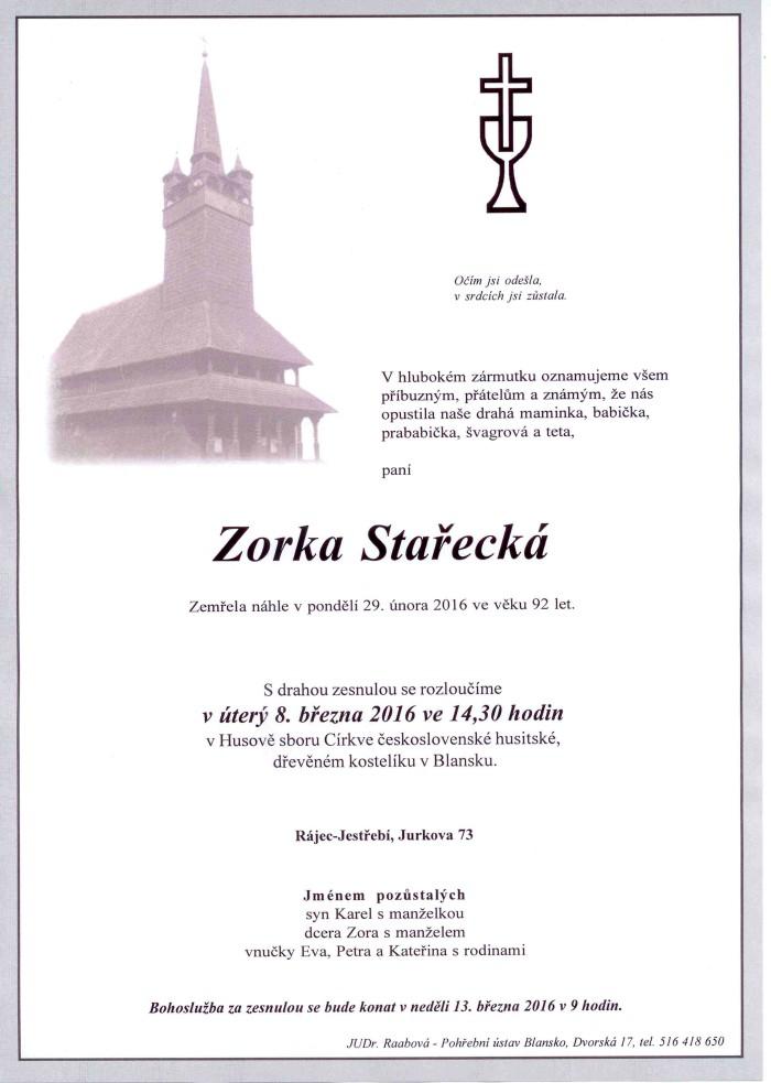Zorka Stařecká