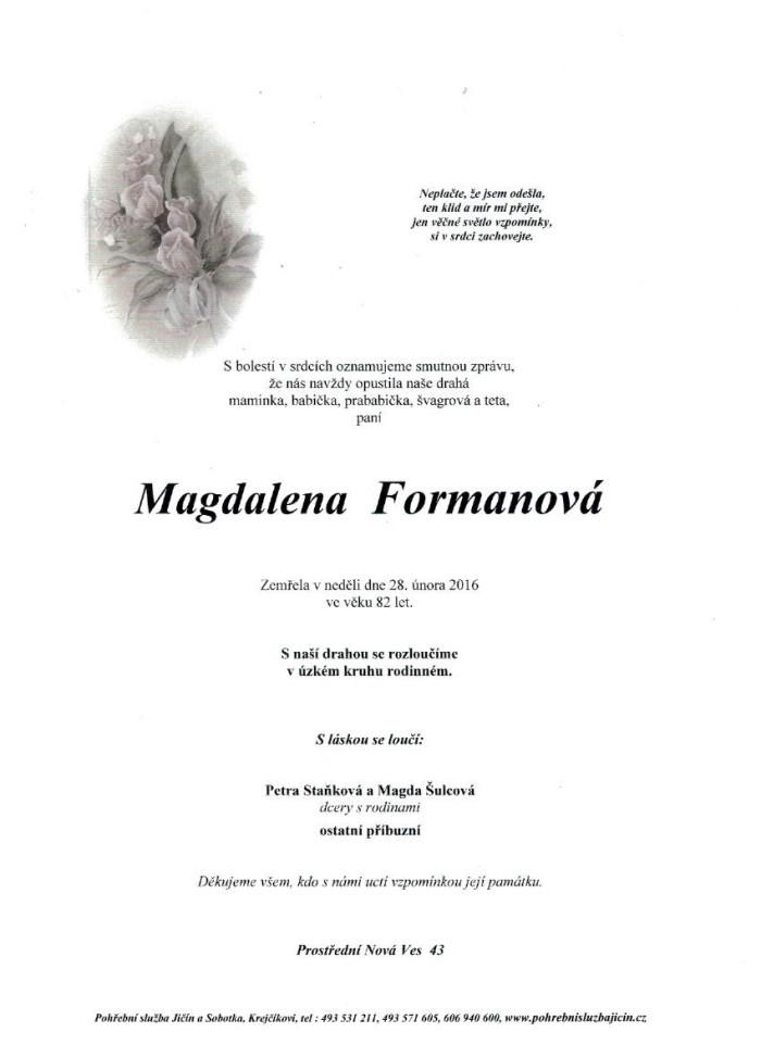 Magdalena Formanová
