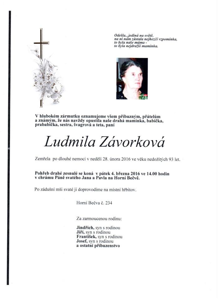 Ludmila Závorková