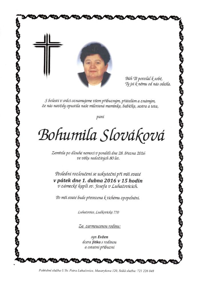 Bohumila Slováková