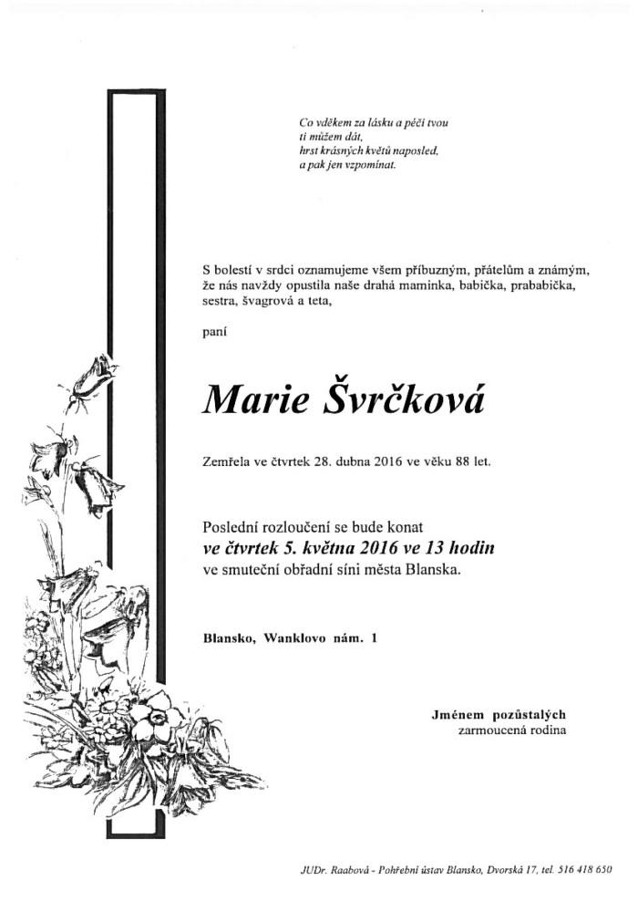 Marie Švrčková