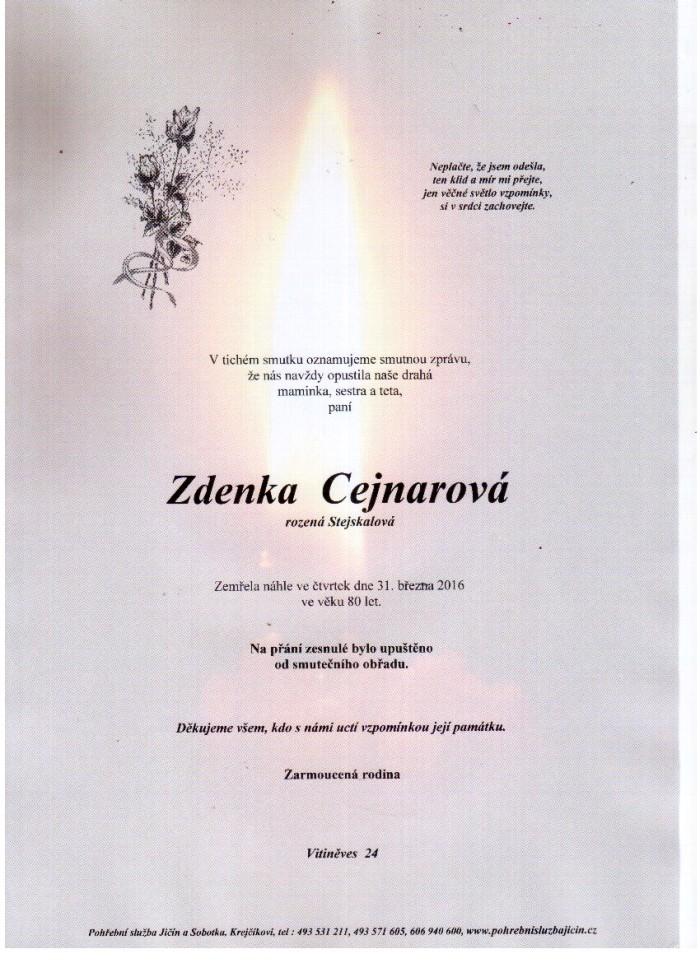 Zdenka Cejnarová