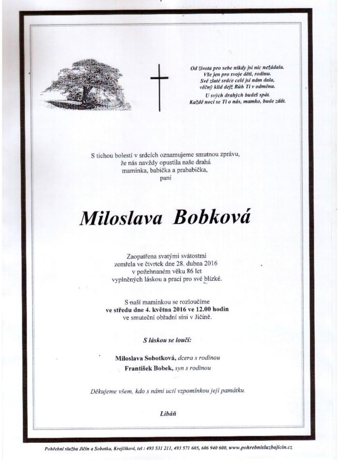 Miloslava Bobková